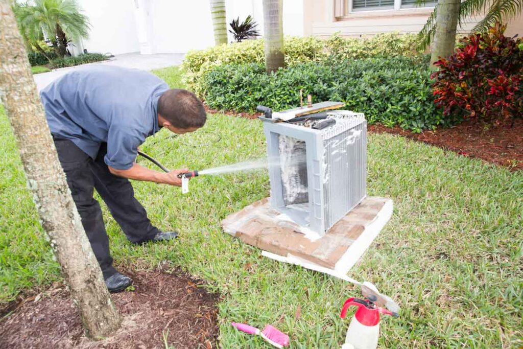 how-to-clean-AC-condensor-coils