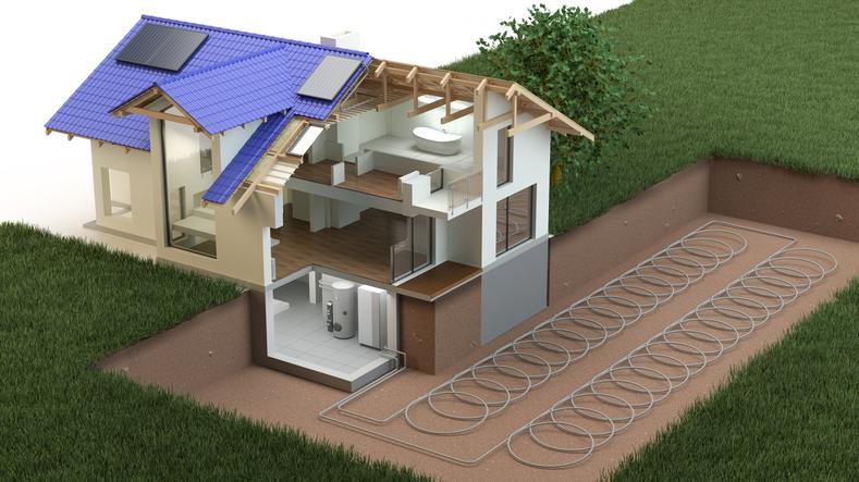 Heat pump, ground source